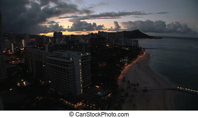 Honolulu Sunrise, time lapse - Sunrise over Honolulu,...