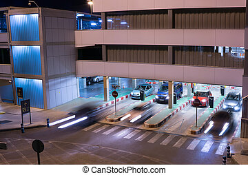 Airport Parking Garage - VALENCIA, SPAIN - JUNE 25, 2014:...