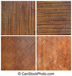 Tailandês, nativo, estilo, bambu