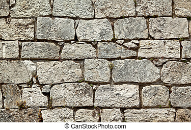 Old stone wall quater - Old stone wall, may be used as...