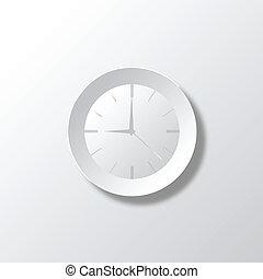 Paper White Time Illustration