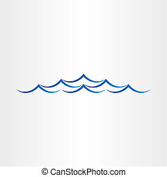 water waves sea or ocean abstract design element