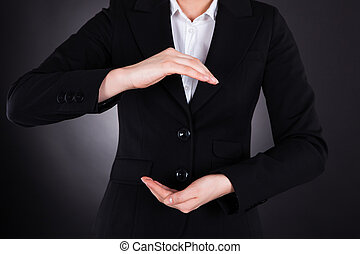 Businesswoman With Hands Open