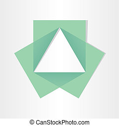 geometrical triangle with squares math symbol geometry