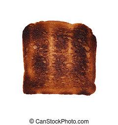 burnt toast - burned toast isolated on white