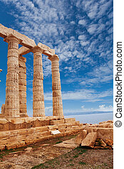 Temple of Poseidon near Athens, Greece - Temple of Poseidon...