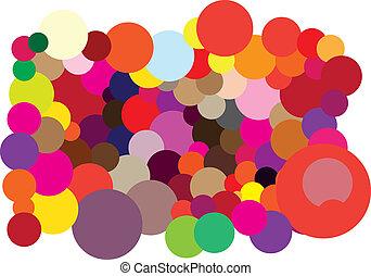Color, círculos, Plano de fondo