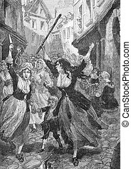 The revolt of the women - The revolt of the women, an old...