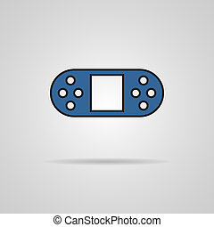 illustration of game controls, Video games Silhouettes,...