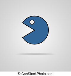 Vector Abstract Pac-Man icon