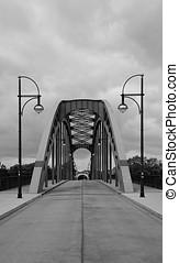 Bridge in Magdeburg - Bridge over the River Elbe in...