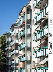Dwelling in new housing development in Rostock (Germany).
