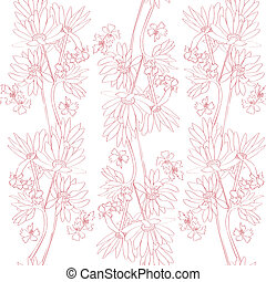 pink orchids pattern