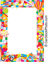 Toy border - Vector frame with childrens toys