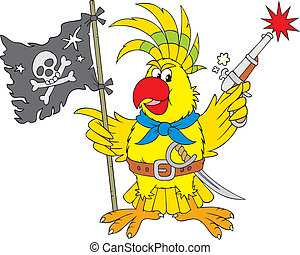 Parrot pirate