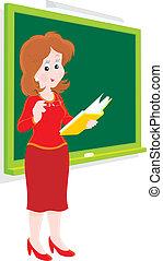 School teacher - Vector clip-art of a schoolmistress...