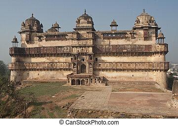 Ancient Palace - Jahangir Mahal, a Rajput style palace,...