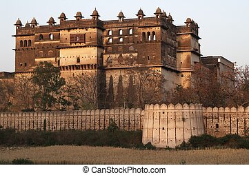 Derelict Indian Palace - Raj Mahal. Historic Rajput style...