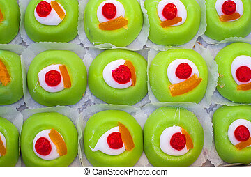 Sicilian pastries - View of tray with delicious sicilian...