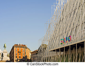 Expo 2015 in Milan - View of Expo gate 2015 in Milan