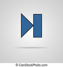 Next track web icon with shadow. Media player
