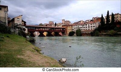 Bassano del Grappa, Veneto, Italy - Beautiful view on the...