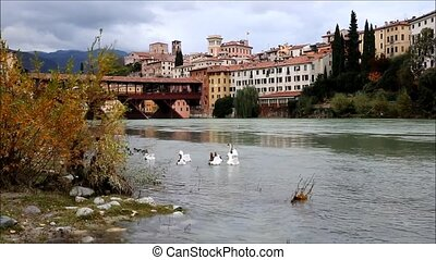 Bassano del Grappa, Veneto, Italy - Beautiful view on the...