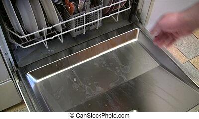 Opening the Dishwasher