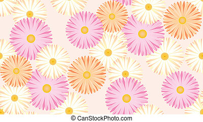 Gerbera - It is an illustration of the pattern of Gerbera