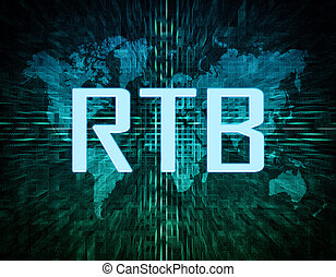 Real Time Bidding - RTB - Real Time Bidding text concept on...