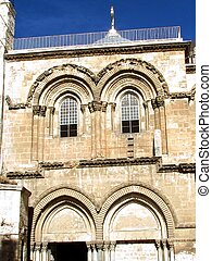 Jerusalem Holy Sepulcher gable 2012 - Gable of Church of the...