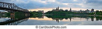 Ottawa morning - Ottawa city skyline at sunrise in the...