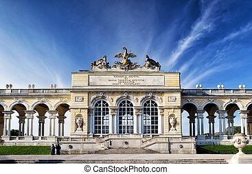Gloriette pavilion in Vienna - The pavilion was used as a...