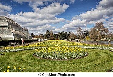 Kew gardens in London - The Royal Botanic Gardens, Kew was...