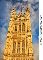 Victoria Tower in London, United Kingdom