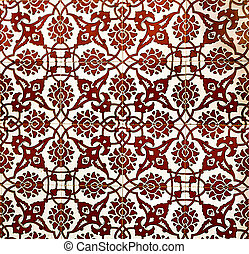 Vintage pattern with ethnic ornament on grunge background