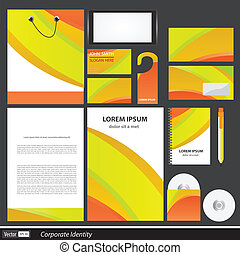 vector corporate identity for business