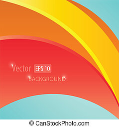 Colorful smooth twist light lines vector background.