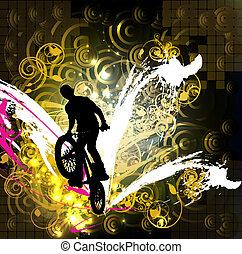 BMX. Sport vector illustration