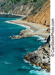 Big Sur - Seascape in Big Sur in California.