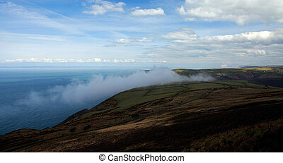 The cliffs of Exmoor - Clouds creeping in off the Atlantic