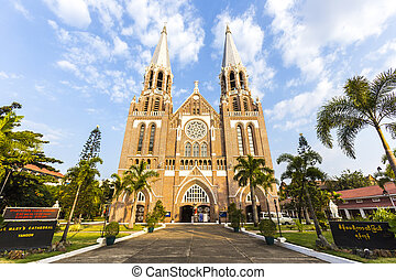 Saint mary cathedral. Yangon. Myanmar.