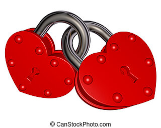 Locks of Love - Illustration of red locks - locks of love....