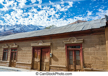Old Building in Chile - Old historic building in Pisco Elqui...