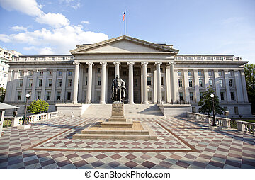 the treasury department building - treasury department...
