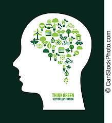eco design over green background vector illustration