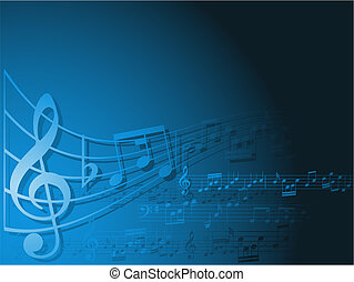 music background - Abstract background with music notes