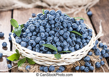 Fresh harvested Blueberries - Big portion of fresh harvested...