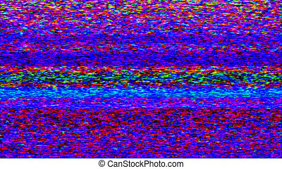 TV Noise 051. No signal TV snow abstraction.