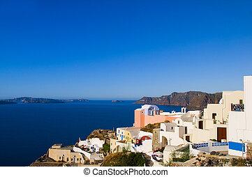 classic greek island architecture sea view santorini
